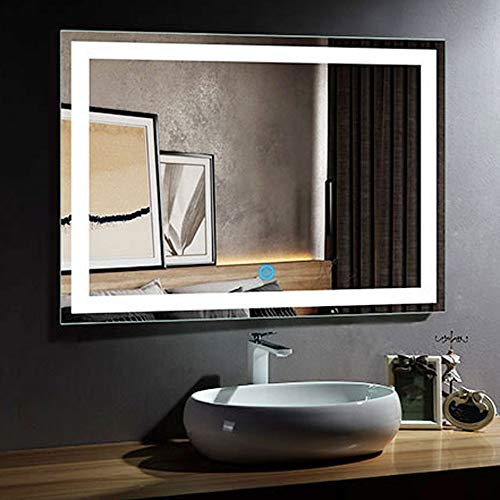 DECORAPORT 48 Inch * 36 Inch Horizontal LED Wall Mounted Lighted Vanity -