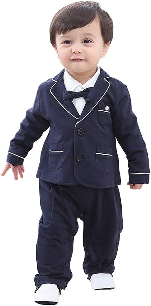 d188843709f7 cool elves - 2 pcs Chaqueta de Bebés con Mono Recien Nacido para Bautismo  Fiesta Boda