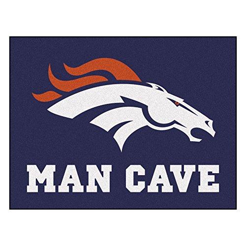 FANMATS 14296 NFL Denver Broncos Nylon Universal Man Cave All-Star Mat ()