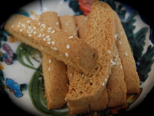 Paximadia Hand Made Traditional Greek Biscotti Cookies (16 oz) (Seed Biscotti Anise)