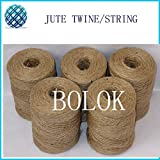 FINCOS 13pcs/lot Gardening Jute Twine, Natural 100% Jute Cords 2 ply Twisted (Dia.: 1.5mm 110yards/spool) Jute Rope