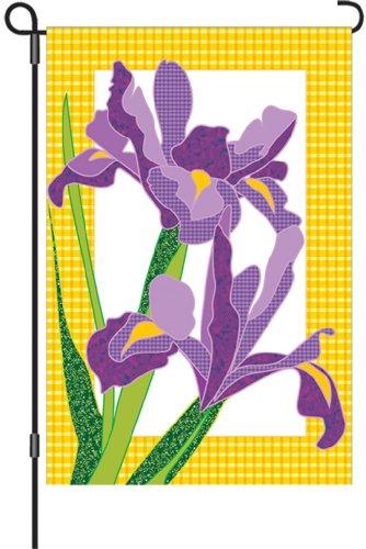 Premier Kites 51153 Garden Brilliance Flag, Giselle Irises,