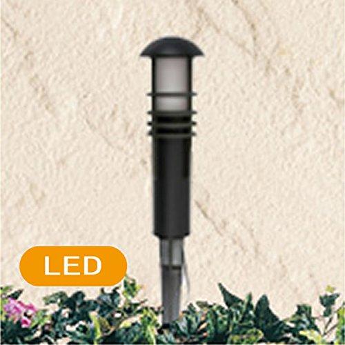 Malibu Lighting 8400 4320 01 1 1W LED Aged Iron Metal Bollard Black