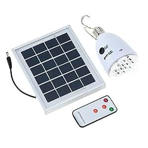Lixada Solar Panel Powered Led Light Ac Dc Supply Portable