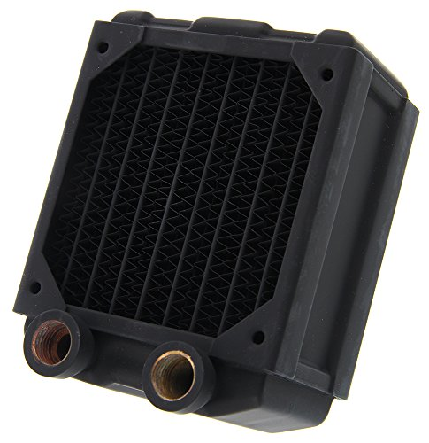 (Black Ice Nemesis 80mm Dual-Core Xtreme Profile Radiator - Black Carbon )