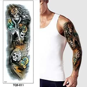 3 Piezas Tatuaje Manga Tatuaje Pegatina Robot Brazo Manga Tatuaje ...