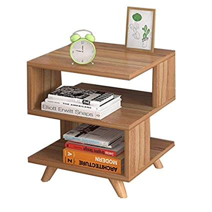 Amazoncom Xiaodong Square Side Table Coffee Table 2 Layer