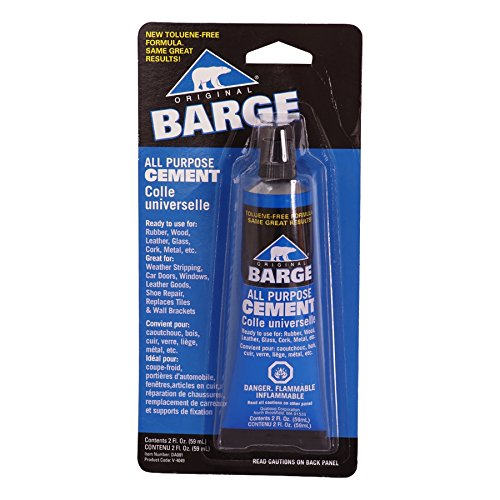 Glue Rubber Cement (Barge All-Purpose TF Cement Rubber, leather, Wood, Glass, Metal Glue 2 oz)