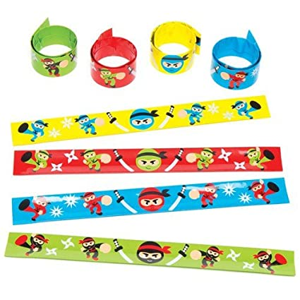 Amazon.com: Baker Ross Ltd Ninja Snap-on Bracelets for ...