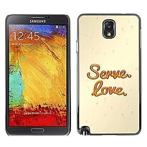 Planetar® ( Bible Verse-SERVE. LOVE. ) SAMSUNG Galaxy Note 3 / N9000 / N9005 Fundas Cover Cubre Hard Case Cover