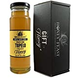 Honey Feast - Raw Black Gum TUPELO Honey | from Organic American floral sources | Unfiltered & Pure Superfood | 12 ounces | Local Honey to Gainesville, Jacksonville, Tallahassee Florida