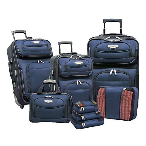 Travelers Choice Amsterdam 8pc Set, Navy ()