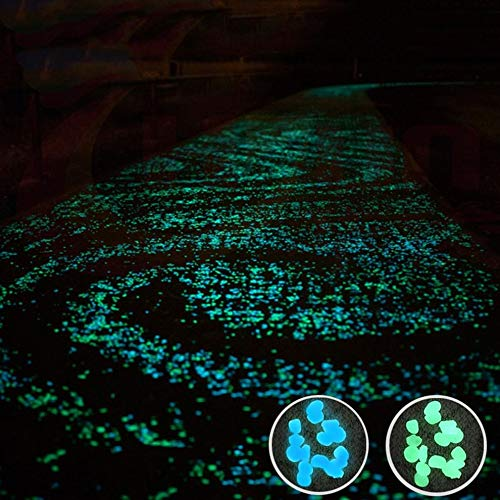 Mouchao 100pcs//pack Glow Pebbles Stone Fish Tank Garden Decoration Glowing In The Dark Blue