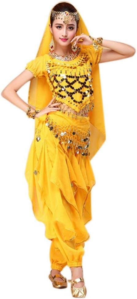 Dastrues 4 Piezas/Set Danza del Vientre Disfraz Bollywood Disfraz ...