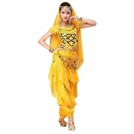 Dastrues 4 Piezas/Set Danza del Vientre Disfraz Bollywood ...