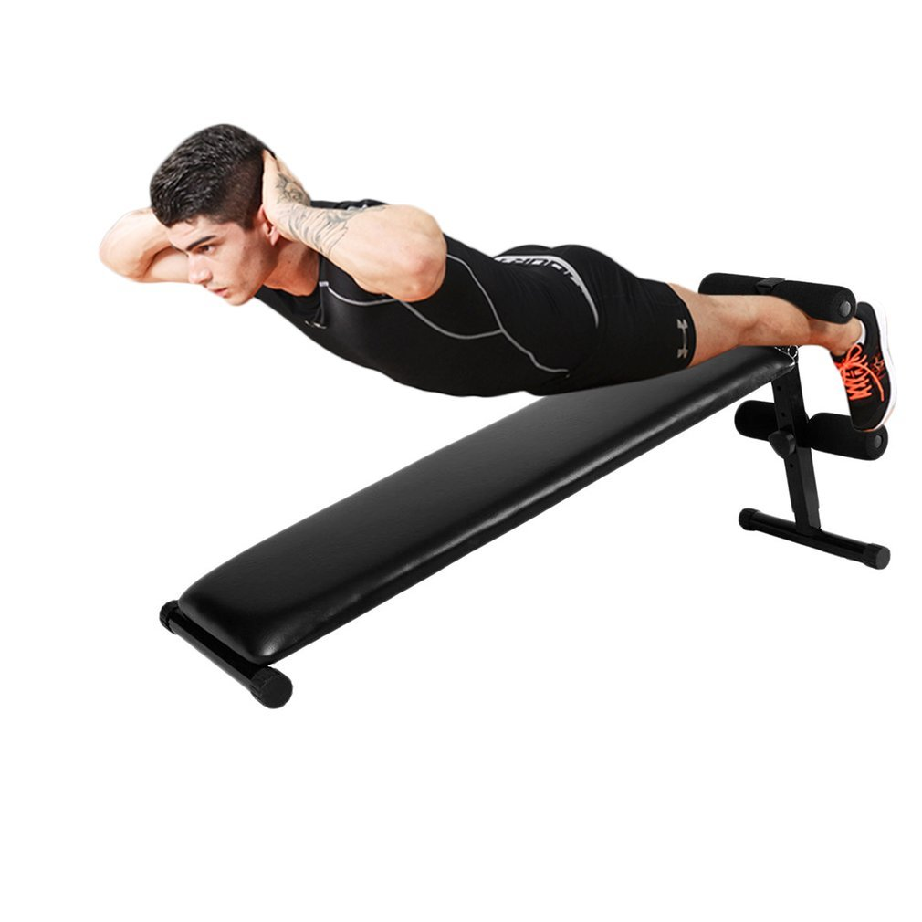 Graspwind Exercise Bench Foldable,Slant Board Adjustable Bench Decline Sit up Bench Crunch Board Exercise Fitness Workout
