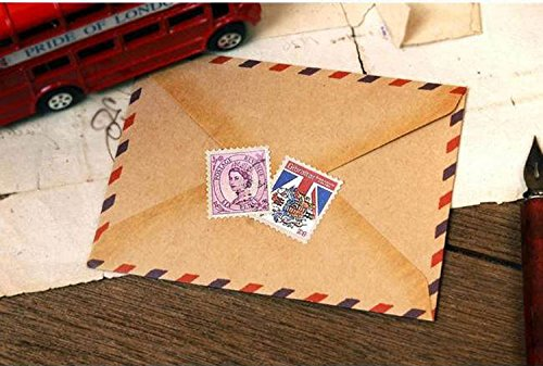 Blogger Vintage Stamps Sticker Decorative for Diary Kids Stickers 4sheets/pack - Around 80+ Stickers (London)