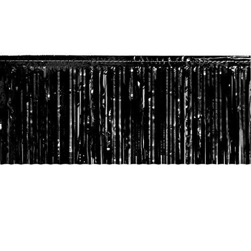 Black Metallic Fringe Table