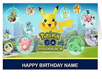 Pokemon Go Personalized Birthday Card Amazoncouk Office Products