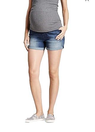 0f9d18ceace93 Amazon.com: Ingrid & Isabel Women's Mid Rise Maternity Inset Panel Jean  Shorts - Dark Wash - (8): Clothing