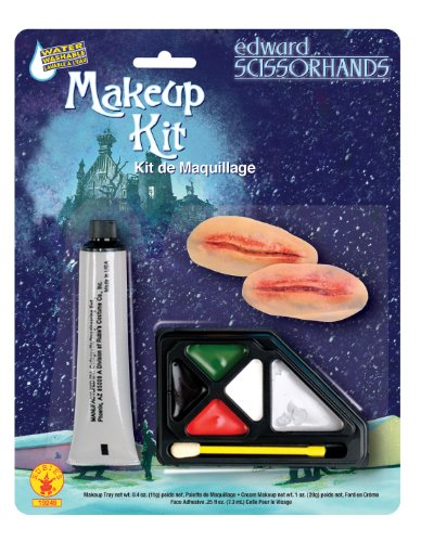 Edward Halloween Costume (Edward Scissor Hands Makeup Kit, Brown, One Size)