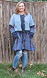 Dusty Blues + Purple Jewel Tone Swing (Aline) Cardigan Coat