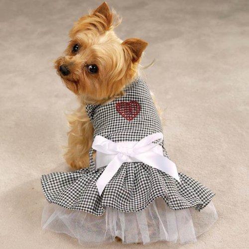 (Zack & Zoey Dog Dress - Gingham Bling Sundress - Size Small)