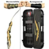Spyder XL Takedown Recurve Bow - Ready 2 Shoot Archery Set | INCLUDES Bow, Instructions, Premium Carbon Arrows, Recurve Bow Case, Stringer Tool, Armguard, FREE GIFT | 50 lb LH -red