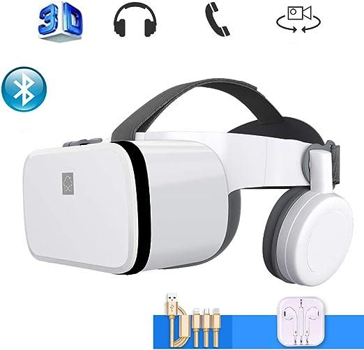 Mobile VR, Universal Gafas de Realidad Virtual Transportar El Cable de Datos, Auricular VR Auricular Compatible con iPhone y Android Teléfono,Blanco: Amazon.es: Hogar