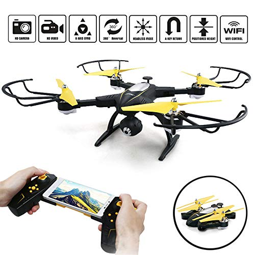 SZJJX RC Drone Foldable Remote Control FPV VR WiFi Quadcopter 2.4GHz...