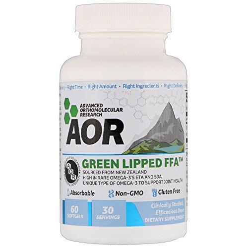 Advanced Orthomolecular Research AOR Green Lipped FFA 60 Softgels