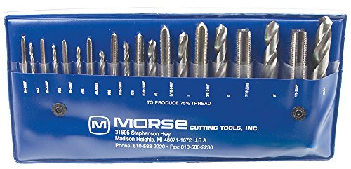 Morse Cutting Tools 37104 Tap and Drill Set, NF Series, High Speed Steel, 104 Number