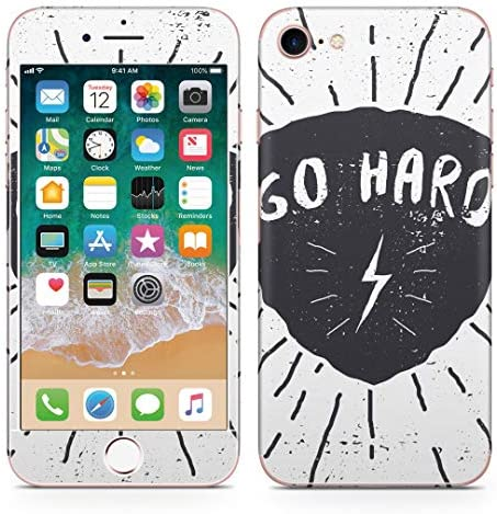 igsticker iPhone SE 2020 iPhone8 iPhone7 専用 スキンシール 全面スキンシール フル 背面 側面 正面 液晶 ステッカー 保護シール 011661 太陽 雷 英語