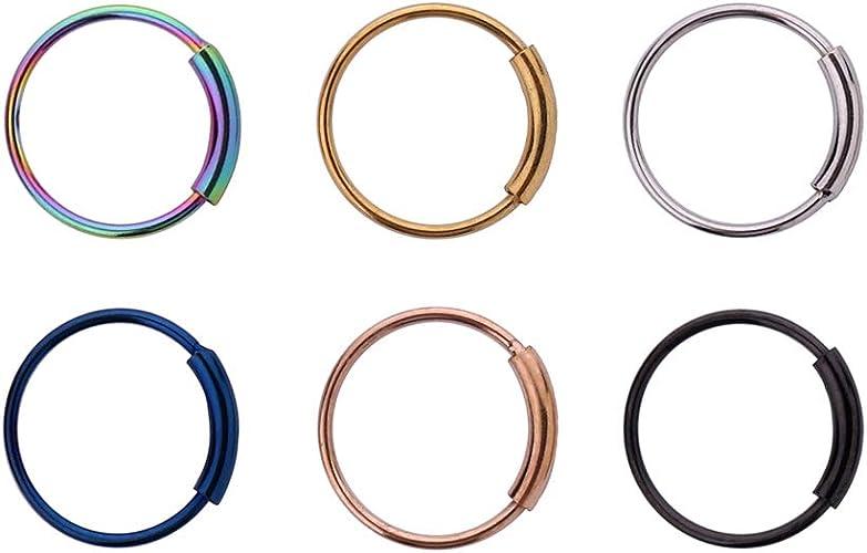Nose Ring Moon Zirconia Ring Piercing 8mm Pendant Tragus #635 Piercing