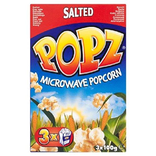 Popz - Palomitas de maíz saladas para microondas (3 x 100 g ...