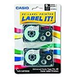 Casio XR-9WE2S 9mm Labeling Tape