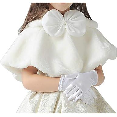 0384c4ae5900c SIJIYIREN 女の子 フォーマル ショール キッズ かわいい ボレロ ウエディング 肩掛け ストール ケープ ファーショール ドレスショール 子供