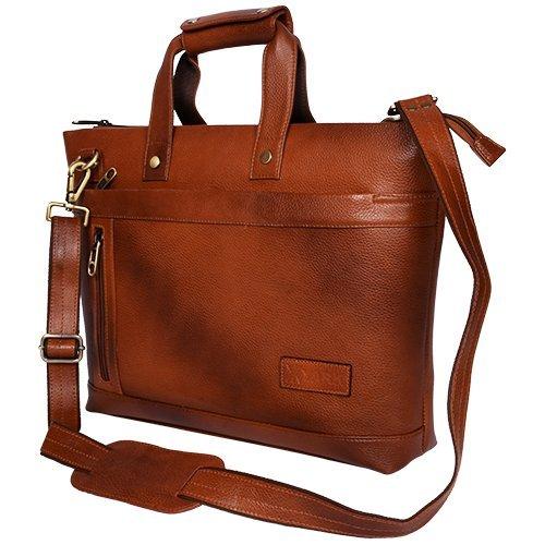 3d788ab7c23d Amazon.com: Yark Genuine Leather Laptop Bag / Briefcase Fits Upto ...