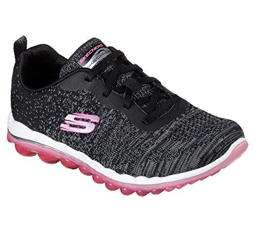Skechers Sport Donna Skech Air Run Sneaker Alta Moda Nero Maglia / Rosa Caldo