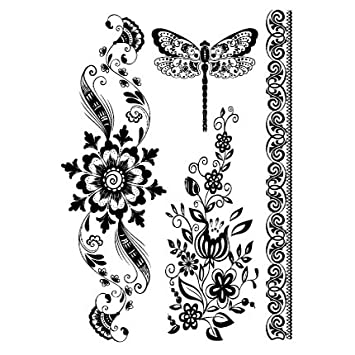 Amazon Com Oottati Assorted Mandala Black Dragonfly Totem
