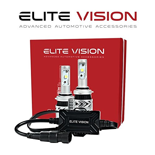 Elite Vision Advanced Automotive Accessories - Olympus LED Conversion Kit H10 (9045, 9145) for Bright White Headlights Bulbs, Low Beams, High Beams, Fog Lights
