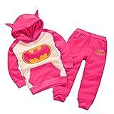 Batman Hoodie and Pants Superhero Set (2-3 Years, Pink)