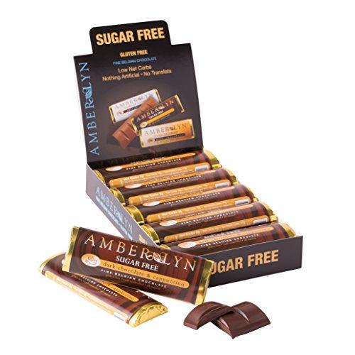 Amber Lyn Sugar-Free Dark Chocolate Cappuccino Bar, (Amber Chocolate)