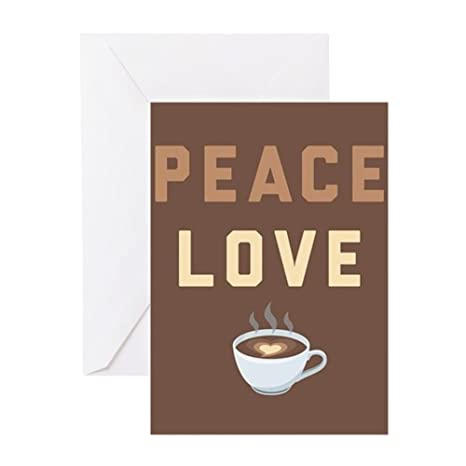 Image Unavailable Not Available For Color CafePress Peace Love Coffee Emoji Greeting Card