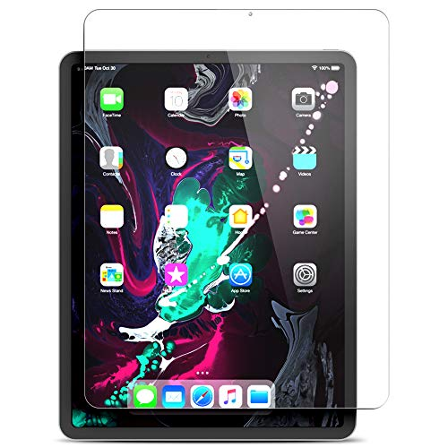 Maxboost Screen Protector for Apple iPad Pro 12.9-Inch 2018 (Clear, 1 Pack) Tempered Glass Screen Protector with Advanced Touch Sensitive HD Clarity Compatible with iPad Pro 2018 12.9 (1-Pack)