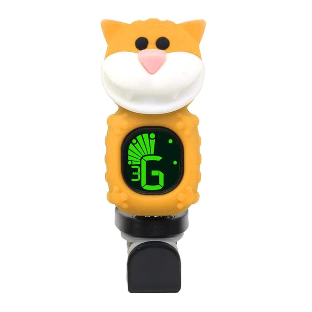 Trendyest Clip On Tuner Cat Universal Clip-on Electronic Tuner LCD Digital Guitar Metronome (Yellow