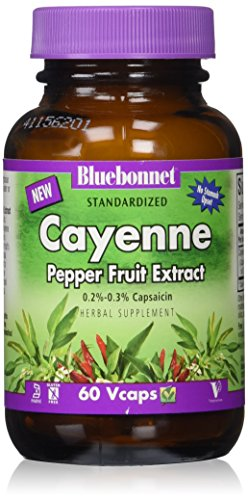 BlueBonnet Cayenne Pepper Fruit Extract Supplement, 60 (Pepper Fruit)