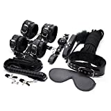 MOJOY Bed Restraints Bondage Kit, Fetish BDSMS Restraints for Sex Play Sex Toys for Couples (Black)