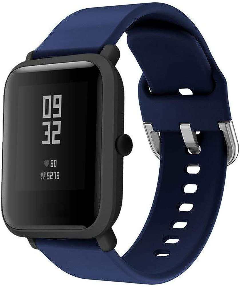 DIPOLA Correas de Reloj de Repuesto de Silicona para Xiaomi Huami Amazfit Bip Youth Watch—