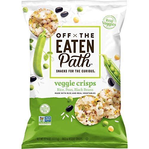 Off The Eaten Path Veggie Crisps  (Rice, Peas, Black Beans), 6.25 Ounce